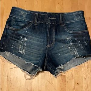 Dark wash denim short Farm Rio